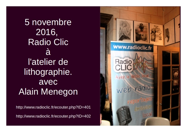 Art et culture lithographique à la radio