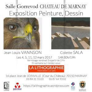 exposition Jean-Louis VANNSON Colette SALA à MARNAY