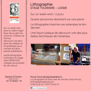 lithographie stage tourisme loisir