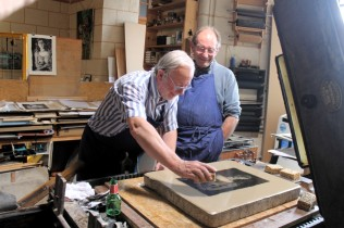 Robert Uriac et Alain Menegon au cours du tirage