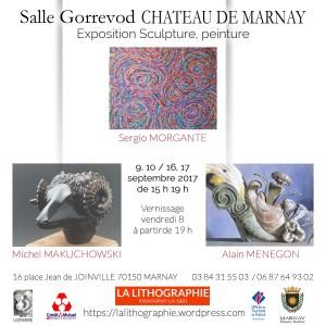 affiche -exposition- Sergio-MORGANTE-Michel-MAKUCHOWSKY-Alain-MENEGON