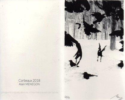 Alain - Menegon - corbeaux - voeux - 2018