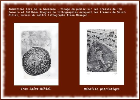 tirage sur les presses de Tom Borocco et Mathieu Boeglen de lithographies d'Alain MENEGON