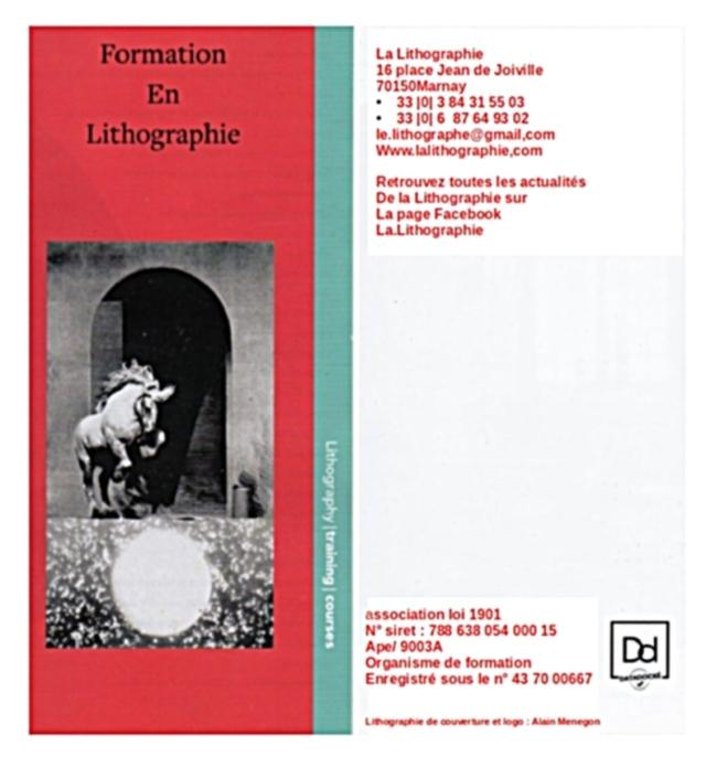 lLa Lithographie organisme de formation