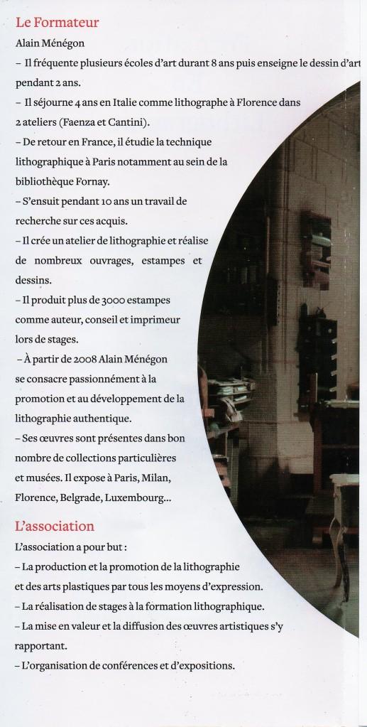 L'association La Lithographie et le formateur